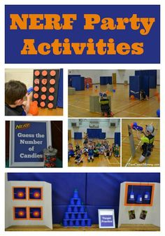 DIY NERF party games and activities… on a budget. DIY NERF party games and activities… on a budget. College Party Games, Tween Party Games, Bachelorette Party Games, Party Activities, Nerf Party Ideas Games, Ideas Party, Nerf Party Food, Sleepover Party, Luau Party