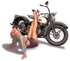 motorcycle Harley Davidson Pinup Photography