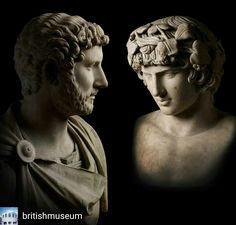 Credit to @britishmuseum : A well-known ancient relationship was that of the Roman emperor Hadrian and his beloved Antinous. Hadrian was devastated when Antinous drowned in the Nile in AD 130. Hadrian's love for Antinous must have been deeply felt as these sculptures are not the only evidence of their relationship. Hadrian proclaimed his lover a god, named the city of Antinoopolis after him, and also had his image included on coins which were distributed across the empire. Discover more love…