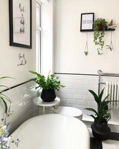 Black and white Victorian style bathroom floor tiles with roll top bath. Black and white Victorian s Black And White Bathroom Floor, Black Tile Bathrooms, Bathroom Tile Designs, Bathroom Red, Bathroom Floor Tiles, Bathroom Design Small, Bathroom Interior Design, Boho Bathroom, Black And White Flooring