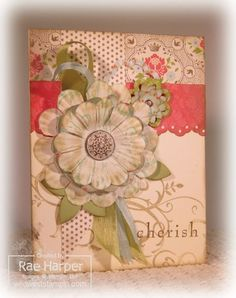 Beautiful vintage card with Everyday Enchantment DSP