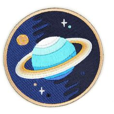 Galaxy Planets Iron On Patch (19 BRL) ❤ liked on Polyvore featuring fillers, patches, accessories, brooches, other, backgrounds, circle, round and circular
