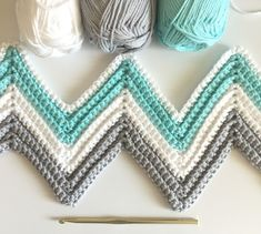 Single Crochet in back loop only to get these ridges. The colors for this blanket are heavenly. Perfect for a… #CrochetAfghan