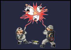 Super Mario Bros + Ghostbusters