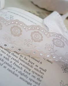 cotton eyelet lace 1yard width 4cm white 578441 by cottonholic, $5.00