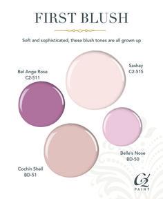 Blush Paint Color Ideas. Pale Pink Paint Color. Glidden