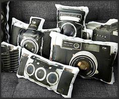 Vintage Camera Canvas Pillows
