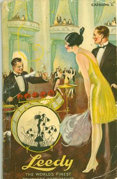 Leedy catalog. The ladies loved the drummin' man!!