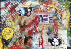 Wall - Mixed media collage