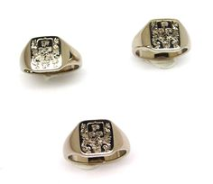 Barton Family Crest White Gold Rings by Peter Kumskov. No matter where the Father's two sons travel in the world these Family Crest Rings will be an unmistakeable bond between three men across the universe.