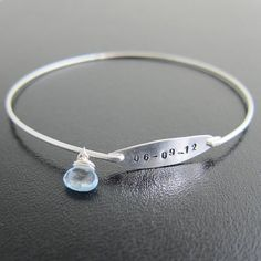 Something Blue, Wedding Jewelry, Personalized Wedding Gift - O M G... this is PERFECT! I love it. ♥ $39.95