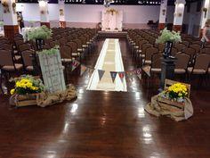 The ceremony area ....