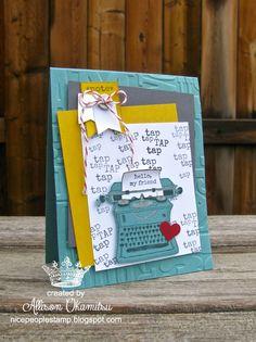 nice people STAMP!: Tap, Tap, Tap Card - Stampin' Up! by Allison Okamitsu