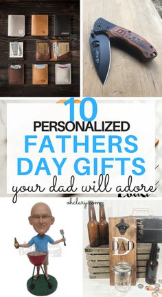 10+ Personalized Father's Day Presents Your Dad Will Actually Like. These unique Father's Day gifts from Etsy are perfect as gifts from daughter, son or even kids. Find out what do Fathers want for Father's day from this awesome list of fun personalised Father's Day gifts!