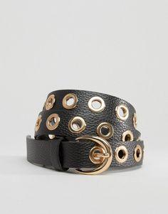 Cinturón con detalle de ojales de Glamorous en ASOS