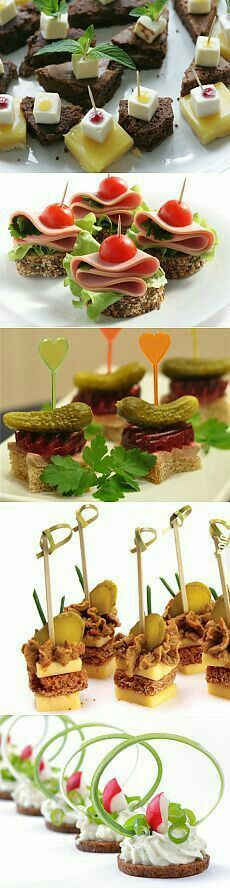 Discover thousands of images about Ham and Dill Pickle Appetizer Bites - Latest Food Appetizer Sandwiches, Mini Appetizers, Tea Sandwiches, Finger Food Appetizers, Finger Foods, Appetizer Recipes, Deco Buffet, Snacks Für Party, Food Decoration