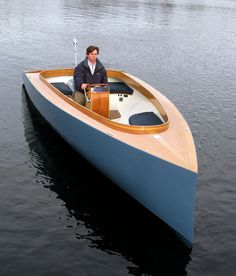 How To Build Wooden Boat Videos-Wooden Boat Plans Ace Runabout Wooden Boats For Sale, Wooden Boat Kits, Wooden Boat Building, Boat Building Plans, Wooden Sailboat, Yacht Design, Boat Design, Cool Boats, Small Boats