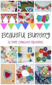 Fiber Flux: Beautiful Bunting! 12 Happy (+ Free) Crochet Patterns...