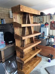 DIY Ideas for Wood Pallet Recycling wooden pallet bookcase