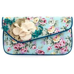 Mutiny by Irregular Choice Blue Cant Touch This Clutch (2.330 RUB) ❤ liked on Polyvore featuring bags, handbags, clutches, purses, hand bags, floral print handbags, blue purse, floral print purse and gold purse