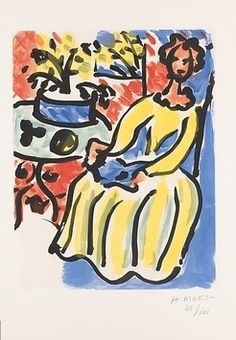 Marie-José II, 1952, by Henri Matisse (French, 1869-1954).
