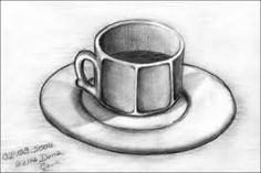 Coffee cup drawing, realistic drawings, coffee cups, still life, easy drawi Drawing Cup, Coffee Cup Drawing, Shading Drawing, Pencil Shading, Object Drawing, Drawing Skills, Pencil Drawings Tumblr, Art Drawings Sketches Simple, Pencil Drawings Of Girls