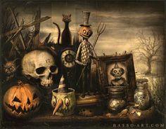 Love these old looking Halloween stuff!