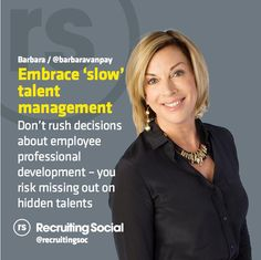 2015 #talentmanagement tip from @BarbaraVanPay   #rsTips #HR
