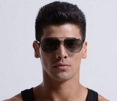 Discount Aviator Polarized Sunglasses Mens Alloy Gun Grey Frame Gray Photochromic Lens
