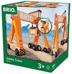 BRIO Gantry Crane  BRIO Gantry Crane  Features: sliding cabin, real life crane action, crane moves on wheels, cargo wagon included  Including load and cargo wagon  Fully compatible with all BRIO wooden railway sets  For ages 3+