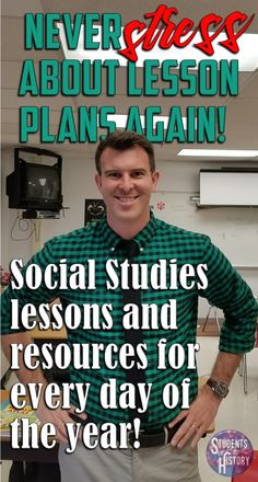 Every lesson for every day of the year fully planned out with videos activities projects assessments and more. Never stress about a lesson for Civics World or US History again! 7th Grade Social Studies, Social Studies Projects, Social Studies Curriculum, Social Studies Lesson Plans, Social Studies Classroom, Social Studies Resources, Teaching Social Studies, Teaching History, History Education