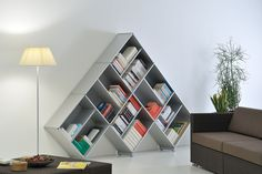 original design metal bookcase PYRAMID_03 Fitting