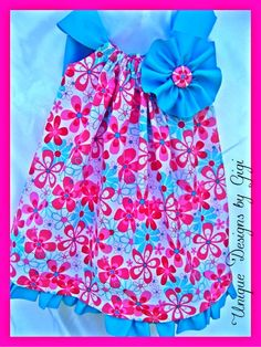Girls Summer boutique dress with large bow by UniqueDesignsbyGigi, $35.99