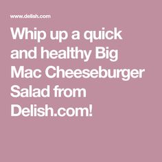 Try This Big Mac Cheeseburger Salad! (Buns Not Included) Egg Roll Recipes, Stir Fry Recipes, Clean Recipes, Low Carb Recipes, Healthy Recipes, Yummy Recipes, Salad Recipes, Diet Recipes, Cheeseburger Salad Recipe