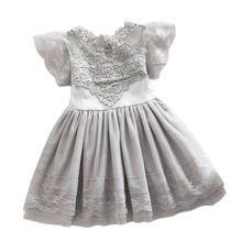 As meninas da criança do bebê crianças rendas vestido de tule vestido de verão floral princess tutu vestido 2-7a(China (Mainland))