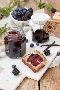 Brombeer-Heidelbeer-Marmelade Dairy, Cheese, Cooking, Food, Huckleberry Jam, Food Food, Kitchen, Essen, Meals