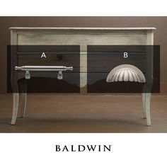 Which Baldwin Hardware cabinet pull do you prefer? The Spindle Pull (A) or the Melon Cup Pull (B)?