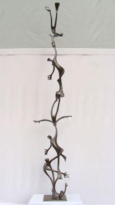 Bronze Abstract Contemporary or Modern Outdoor Outside Exterior Garden / Yard Sculptures Statues statuary sculpture by artist Plamen Dimitrov titled: 'Water world 2'