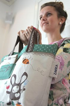 Emmelie with Spring Time Bunny Tote bag   Flickr - Photo Sharing!