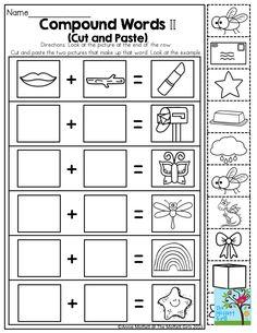 Compound Words- Such a fun activity for Kindergarten!