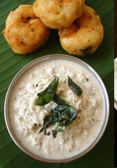 Vada with Coconut Chutnet.......