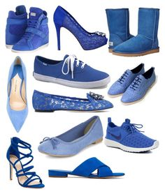 """""""Blue clothing #3"""" by jasmine-dunkley on Polyvore featuring beauty, Philipp Plein, Paul Andrew, GUESS, Keds, Dolce&Gabbana, UGG Australia, Schutz, Mansur Gavriel and NIKE"""