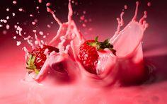 Strawberry Wallpaper Milkshake 1920x1200