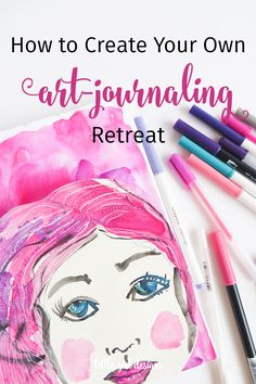 Wouldn't it be fun to go on an art-journaling retreat? Today I'm going to show you how you can DIY your own art-journaling retreat from the comfort of your own home. Grab your sketchbook and let's art journal! Paint Brush Sizes, Trending Crafts, Hand Lettering Art, Artist Sketchbook, All Things Cute, Art Journal Inspiration, Art Therapy, Art Journaling, Art Tutorials