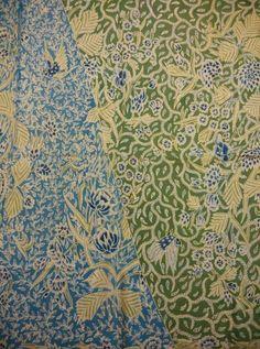 Batik demakan demak kudus north java,batik sang seng blue green,type morning noon cloth,year 1940~1950.