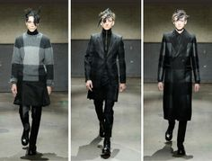 ALEXANDER MCQUEEN FALL WINTER 2014 – GRAPHIC BLACK AND GRAY