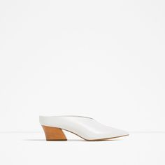 Image 2 of LEATHER MULE SHOES from Zara