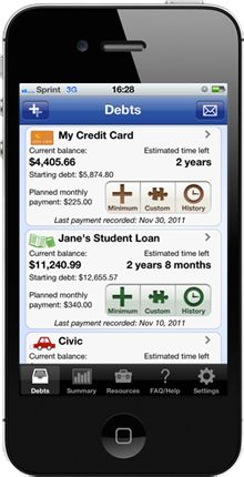 Pay Off Debt debt snowball calculator iPhone app