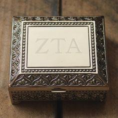 Zeta Tau Alpha Jewelry Box