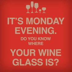 I always know where my glass is :-) # winetime
